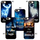 Harry Potter Blue Light Stag Always Don not Touch My Phone quotes iPhone case
