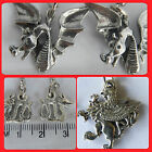 Dragon, Griffin, Loch Ness Mythical creatures pewter hook earrings