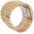 Luxury Womens Stainless Steel Quartz Rhinestone Crystal Analog Dress Wrist Watch