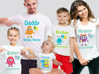 Monsters Custom Birthday Family T-shirts. Baby Monster Birthday Tops. Baby Tops.