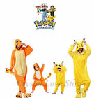 Enfants Adulte Pikachu pyjamasn Animal Cos Costume Unxise Taille unique Pyjamas
