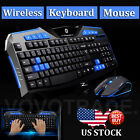 Gaming wireless 2.4G keyboard and Mouse Set to computer Multimedia Gamer LED