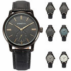 AgentX Fashion Men's Leather Band Analog Quartz Sport Wrist Watch +Gift Box