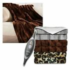Sunbeam Faux Fur Ultra Soft Oversized Heated Electric Throw Blanket Choose Color
