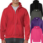 Mens True Face Fleece Plain Hoodie Sweatshirt Hooded Zipper Jumper Top