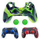 Silicone Cover Case Skin + JoyStick Caps for Sony Playstation 4 PS4 Controller