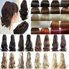 Lady Clip In Ponytail Jaw Pony Tail Hair Extension Claw On Hair Piece curly wavy