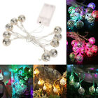 20 LED Filigree Metal Moroccan String Fairy Light Wedding Xmas Party Garden Lamp