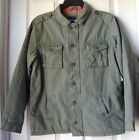BRAND NEW GAP MILITARY STYLE CANVAS JACKET BOYS SIZE L SURPLUS COLOR