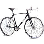 "28"" FIXIE RENNRAD FAHRRAD KCP FG1 BULLHORN 2017 FIXED GEAR SINGLE SPEED schwarz"