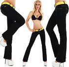 Sexy Women's Low Cut Jeans Hipster Bootcut Black Jeans Pants + Belt Size 6-14