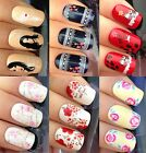 NAIL ART STICKER WATER TRANSFERS DECAL FACE COW MILK ROSE LACE KISS DITSY FLOWER