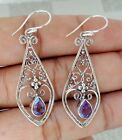 Gemstone Dangle Earring Sterling Silver 925 Balinese Hand-made Design 39073