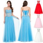 BLUE/Pink Corset Quinceanera Wedding Dresses Formal Evening Prom Party Ball Gown
