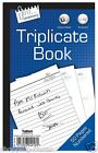 Full Size OR Half Size Triplicate Book 1-50 Numbered Pages with Carbon Sheet X 1