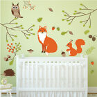 Woodland Animals Wall Sticker Set Fox owl Wall Decal Kids Bedroom Home Decor