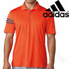 Adidas Golf 2018 Mens Lightweight Climacool 3-Stripes Club Crestable Polo Shirt