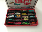 Lot of 40 HTF Diecast Matchbox Lesney Vehicles Used Condition incl. Vintage Case