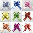 50 LARGE Ribbon Bows assorted colour easy pull flowers ribbon party decoration