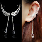 UP New Fashion Crystal Silver Plated Earrings Drop Dangle Ear Stud Cuff Clip
