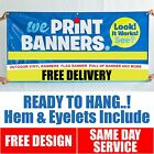 PVC Banners Outdoor Vinyl Banner || Free Delivery