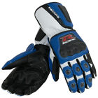 SUZUKI BLUE LEATHER GSX-R GAUNTLET GLOVES (SM-2X) 990A0-21242