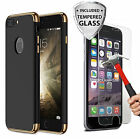 Protective Hard Thin Case Cover + Tempered Glass For Apple iPhone 7 / 7 Plus