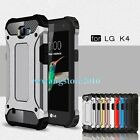 New Hybrid PC&TPU Heavy Duty Dual-layers Hard Rugged Impact Case Cover for LG K4