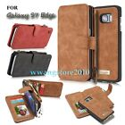 Genuine Leather Detachable Zipper Wallet Case Cover for Samsung Galaxy S7 Edge