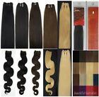 20Inch Weft Straight&Wavy AAAAA Remy Real Human Hair Extensions 100g 150cm width