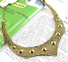 Fashion Women Europe Retro Gold Exaggeration Pendant Chain Statement Neckalce