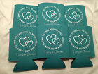 double hearts Custom Wedding Koozies 981 1 to 300 Personalized party favors