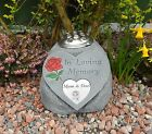 Any Family Member Memorial Heart / Grave Marker with Flower Holder In Loving Mem
