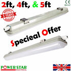 Led Waterproof Batten Fitting Commercial Surface mount T8 2ft 4ft 5ft Light Lamp