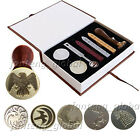 Game of Thrones House Family Badge Vintage Wax Seal Stamp Kit Gift Set
