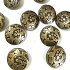 Vintage Brass Wave Coat of Arms Metal Buttons 20mm Sewing Collectable Craft