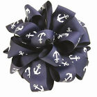 "1-1/2"" Navy Blue Anchor Grosgrain Ribbon Nautical Ribbon"