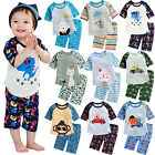 "Vaenait Baby Kids Boys Clothes Short Pajama Outfit set ""Boys 3/4 Sleeves"" 12M-7T"