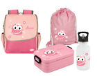 SET Kindergarden backpack Happy Knirps mit Name Motiv Kids backpack Lunchbox