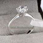 A1-R010 Solitaire Engagement Wedding Ring 18KGP Rhinestone Crystal Size 5.5-10