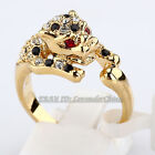 A1-R040 Fashion Rhinstone Leopard Ring 18KGP Crystal Size 5.5-6.5