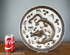 Antique Chinese Porcelain Charger Plate Dish Dragon Crackle Glaze Chenghua Mark