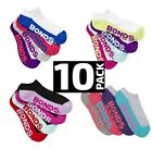 10 Pairs New Bonds Womens Sports Quarter Ankle Low Cut Running Socks Size 3 8 11