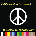 Peace Symbol - vinyl graphic decal sticker - for car window door laptop etc