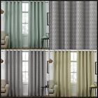 Prism Geometric Diamonds Ready Made Eyelet Curtains Thermal Interlined Pair