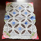 "T62 Handmade Organdy Applique 12""x19"" Table Runner Placemat"
