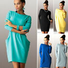 New Sexy Women Casual Long Sleeve Evening Party Dress Cocktail Prom Mini Dress