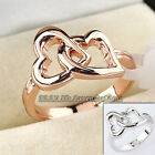 A1-R184 Heart in Heart Fashion Ring 18KGP Size 5.5-10