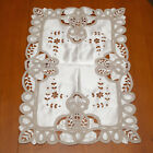 "T113 Flower Hand Made Embroidered Cut work Placemat Tablecloth 16"" x 22"""
