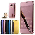 Luxury Mirror Clear View Flip Leather Case Cover For Huawei Ascend/ Honor Phones